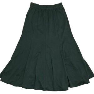 Vintage green midi skirt